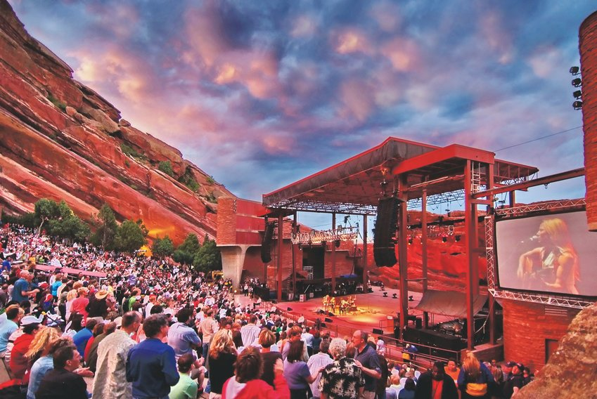 Red Rocks live cam is one way to enjoy a live music venue at home. Pictured is a past Sheryl Crow concert.