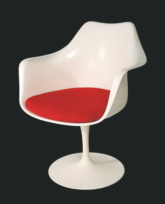 This 1956 Saarinen Tulip Armchair is just one that you can learn about in the Kirkland Museum of Fine & Decorative Art's Pull Up a Chair Virtual Exhibition.