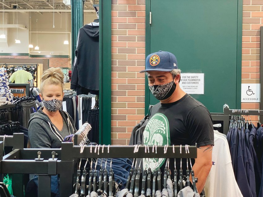 Jane and Jerry Greenwald, of Castle Rock, shop at Dick's Sporting Goods May 2.