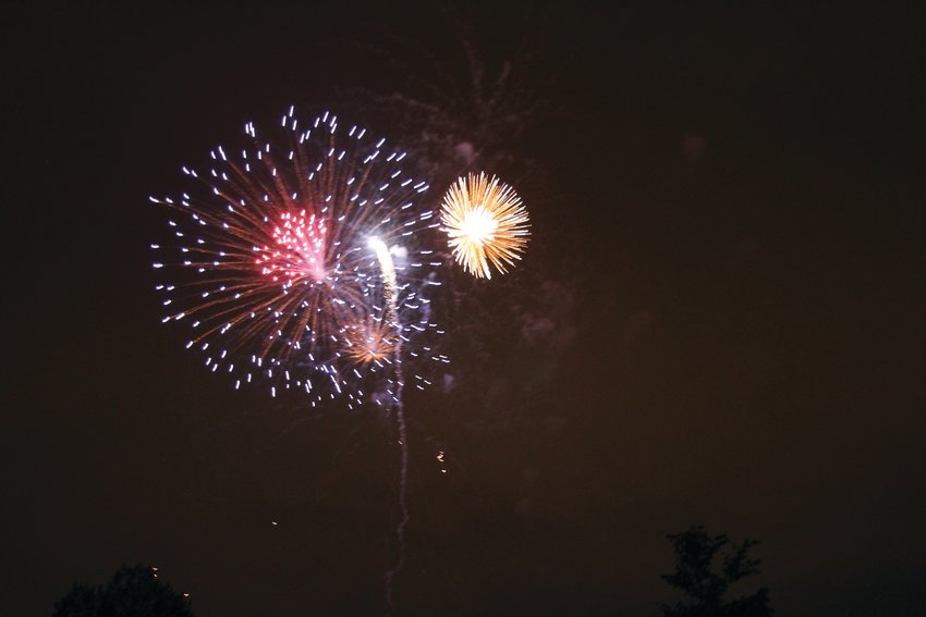 Fireworks light up the sky over Belleview and Cornerstone parks as part of the annual July 4 celebration in 2017.