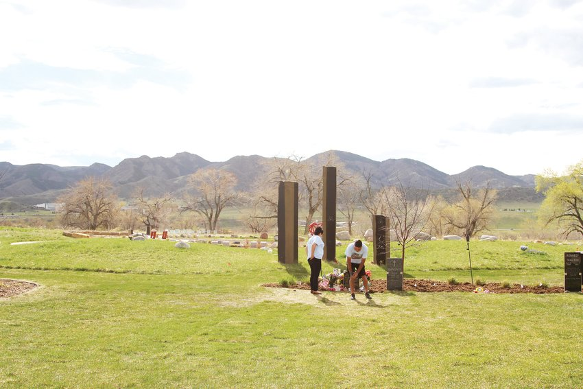 The Castillos buried their son, Kendrick, at Seven Stones Cemetery. The botanical garden cemetery focuses on healing through nature and incorporates art throughout the grounds. The Castillos chose a plot for Kendrick next to three basalt columns, which reminded John and Maria of their family of three.