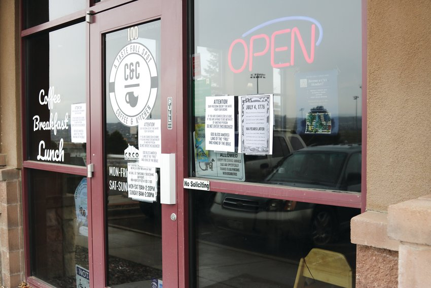 C&C restaurant in Castle Rock remained open to dine-in service Monday, May 11 after Tri-County Health Department ordered them to shutter the business.