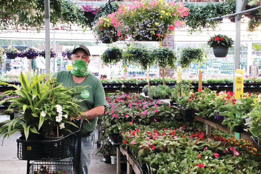 O'Toole's Garden Center general manager Chris Ibsen says face masks are a small price to pay for safety.