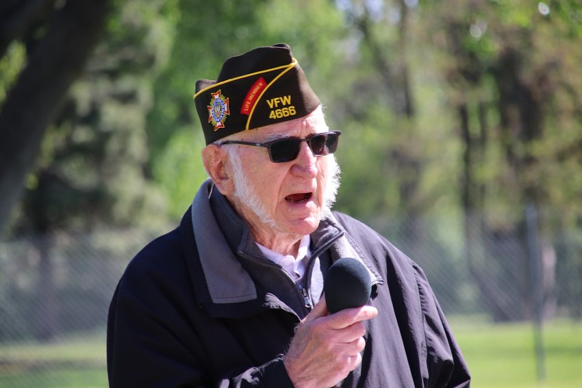 """Stand up, stand tall and be proud to be an American,"" said Bill Baldaccini of VFW Post #4666. ""Be devoted to your country."""