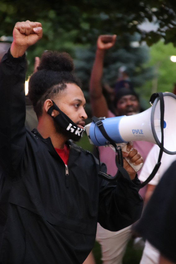 Protesters gathered the night of Thursday, May 28, at the Colorado state Capitol in Denver to protest the death of George Floyd in police custody in Minneapolis.