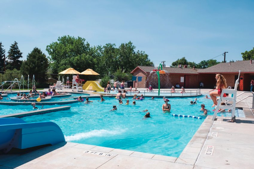 Burgess Memorial Pool -- seen before the COVID-19 pandemic -- is located in Castle Rock and operated by the town.