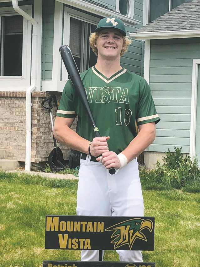 Patrick Boland, 16, poses in his Mountain Vista baseball uniform before being required to turn it in. The school's spring baseball season was canceled because of the COVID-19 pandemic.