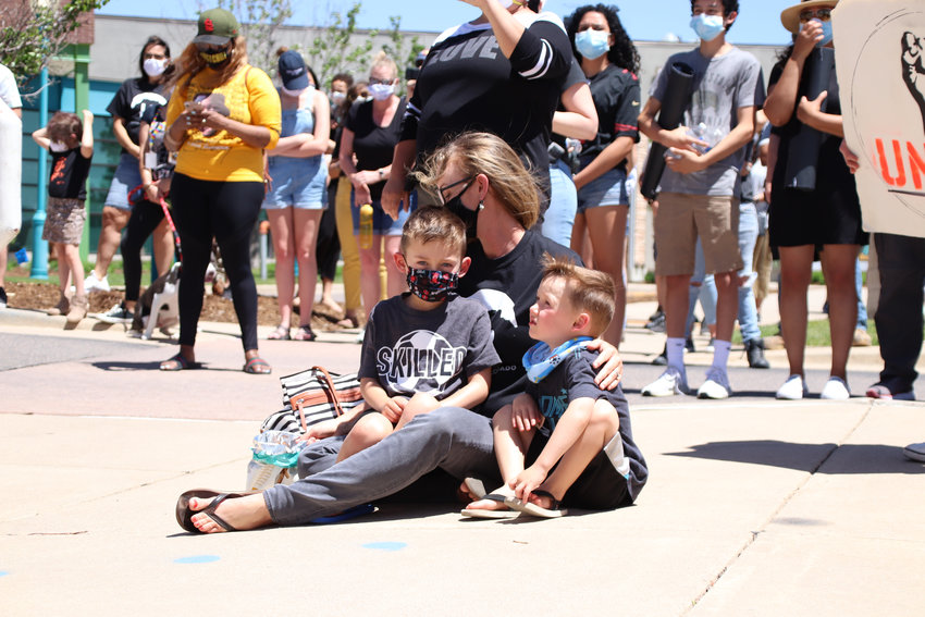 "Castle Rock residents young and old came out to protest systemic racism and police brutality on June 7. Children walked alongside parents and chanted ""I can't breathe"" or ""Black lives matter"" during the protest."