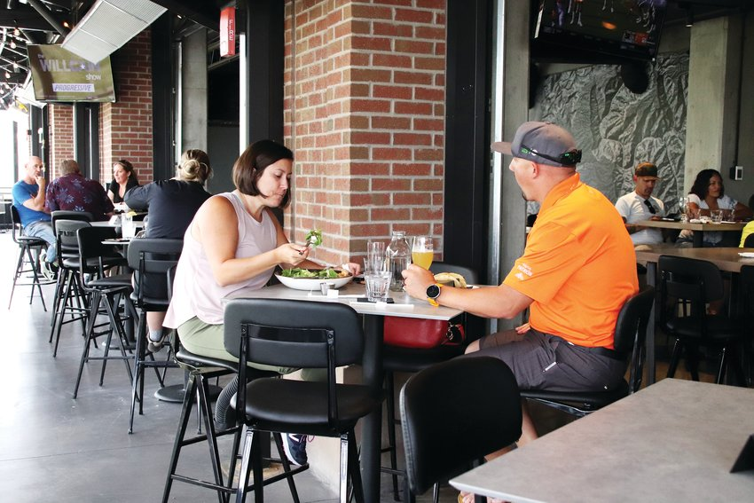 Wade and Abby Lancaster enjoyed their first lunch date out in three months on June 3.