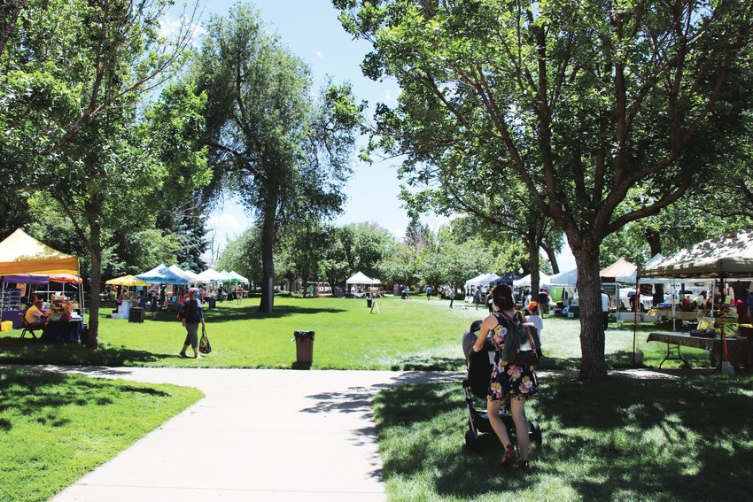 More than a dozen vendors set up at the outdoor market June 7, which was the first to run in-person in Arvada since the pandemic began.