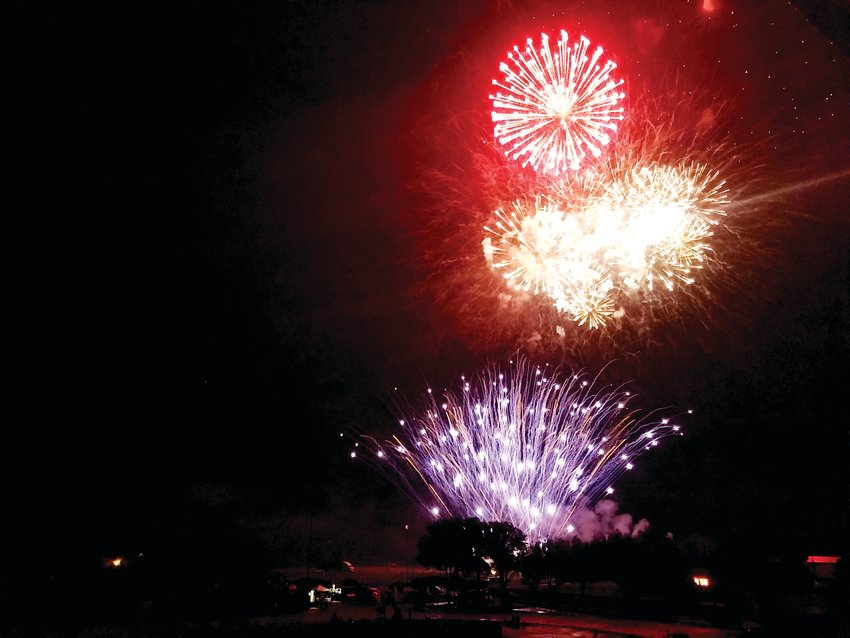 In a file photo, fireworks light up the sky above Jeffco Stadium in Lakewood.