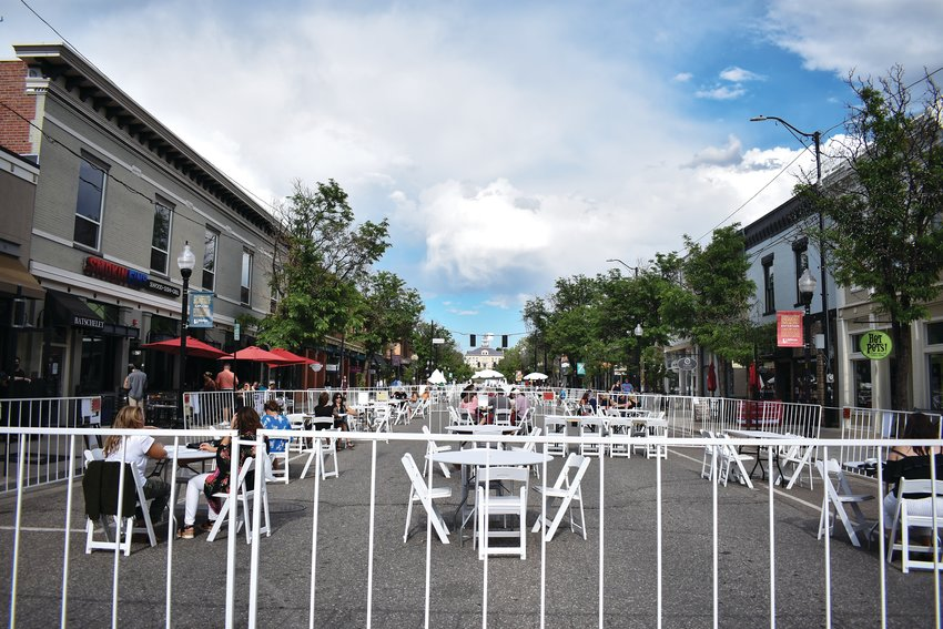 "Littleton shut down Main Street to allow al fresco style dining during the ""Weekends on Main"" outdoor event June 12."