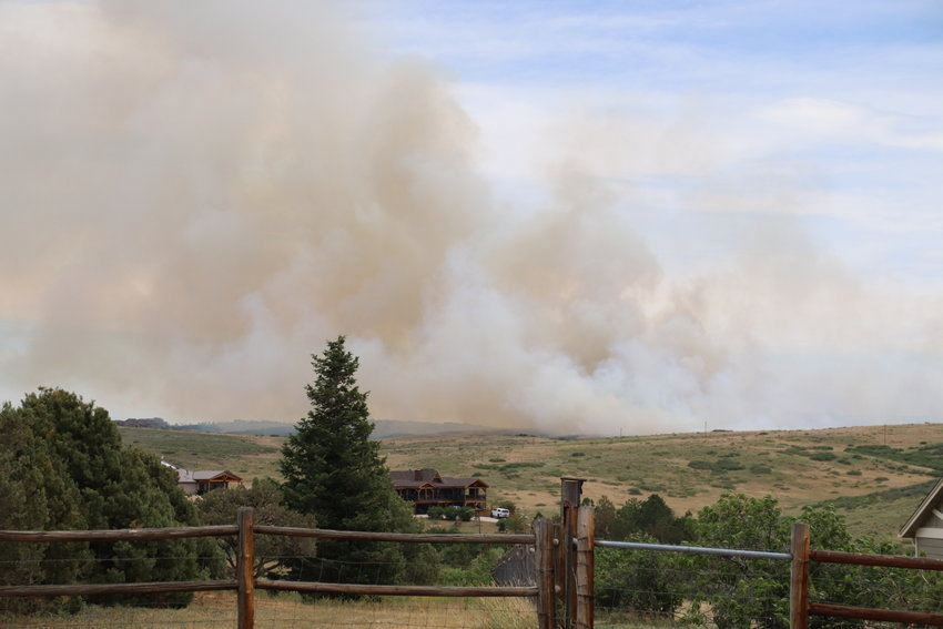 The Chatridge 2 fire near Chatridge Court and U.S. Highway 85 in Douglas County on June 29, 2020.