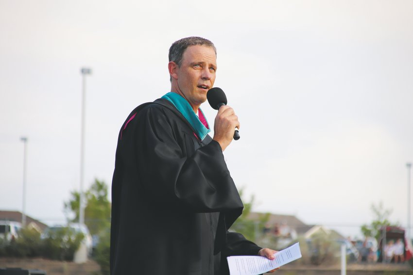 Principal Jason Jacob addressed the class of 2020 during the Legend High School graduation ceremony June 25.