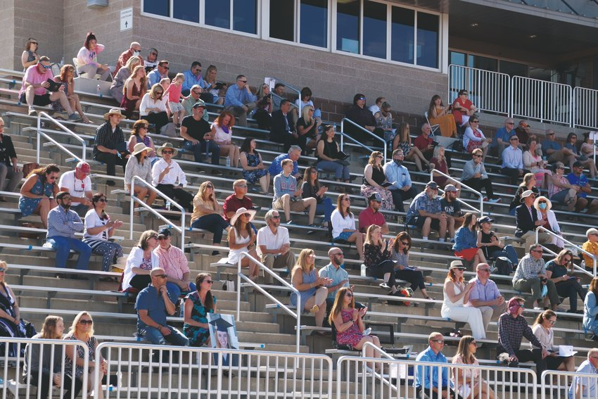 Seniors' loved ones watch the Castle View High School graduation ceremony June 26. Douglas County graduates were allowed to bring two guests to the in-person commencement events.
