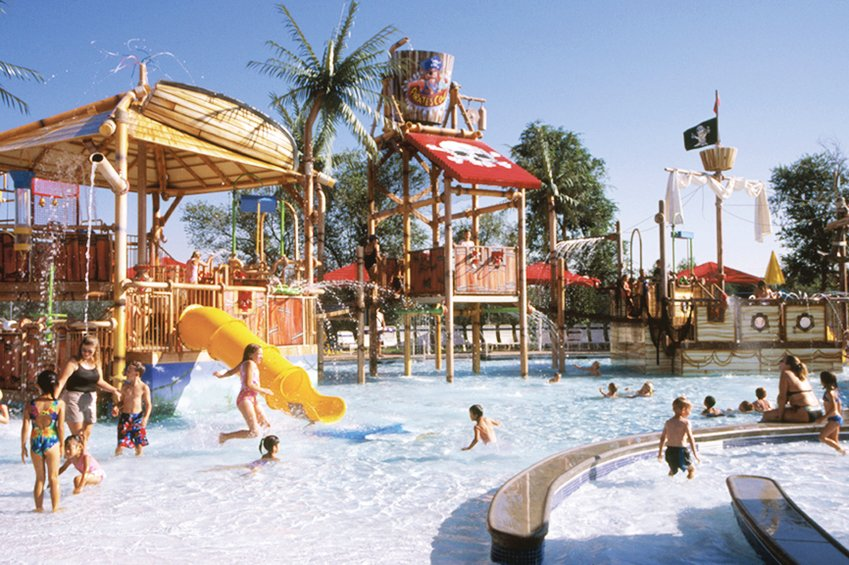 You won't likely see Englewood's Pirates Cove Water Park as crowded as this file photo this year.