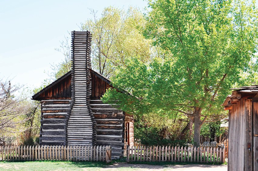 The log home on the 1860s farm at the Littleton Museum. The farms are open for limited hours, but offer a delightful diversion for kids and adults.
