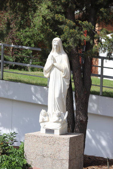 A statue of Mother Cabrini at Mother Cabrini's Shrine.