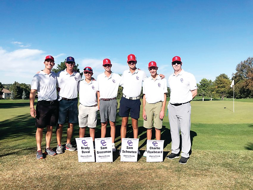 The Cherry Creek state qualifying boys golf team from last year.