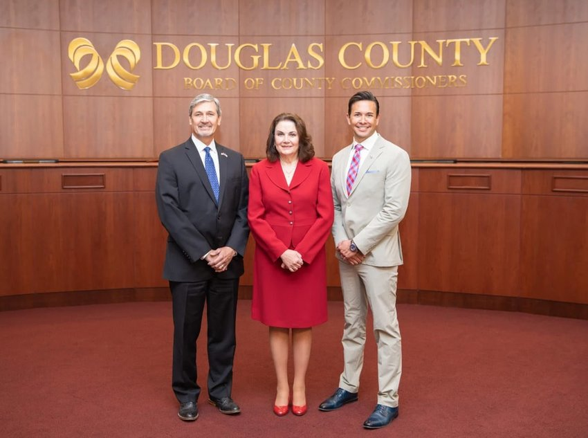 Douglas County commissioners (from left): Roger Partridge, Lora Thomas, Abe Laydon