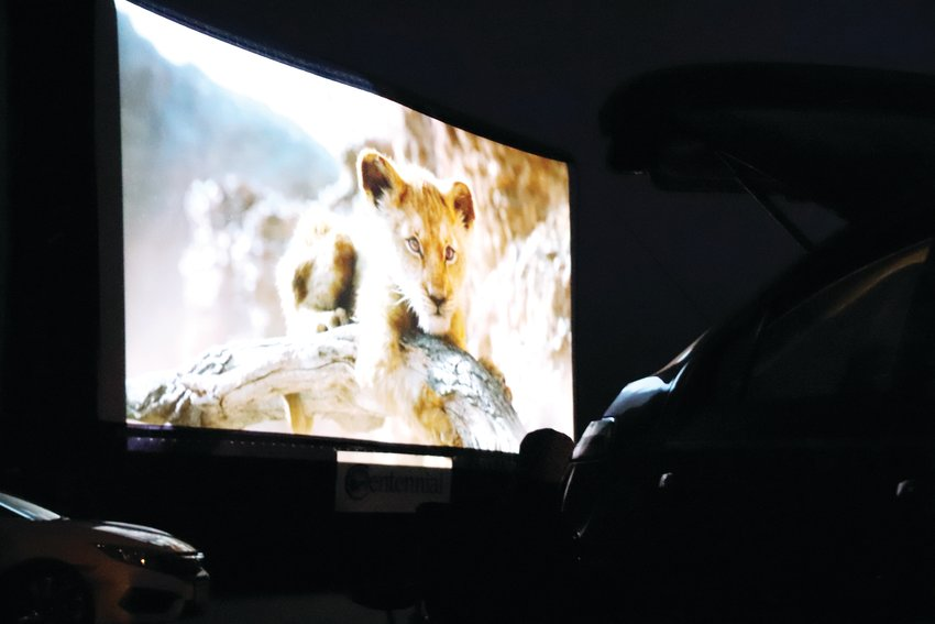 "A scene from ""The Lion King"" at a July 16 drive-in movie event at the Cherry Creek Innovation Campus."