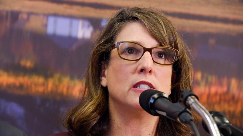 Colorado Department of Public Health and Environment Executive Director Jill Hunsaker Ryan speaks at a news conference on COVID-19 on on March 3, 2020.