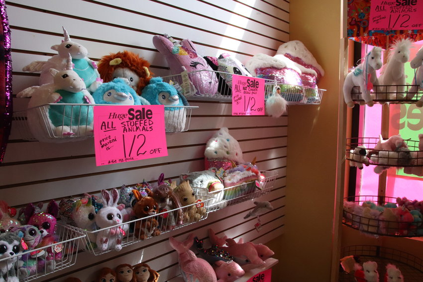 Stuffed animals for sale at Timbuk Toys in Highlands Ranch July 23.