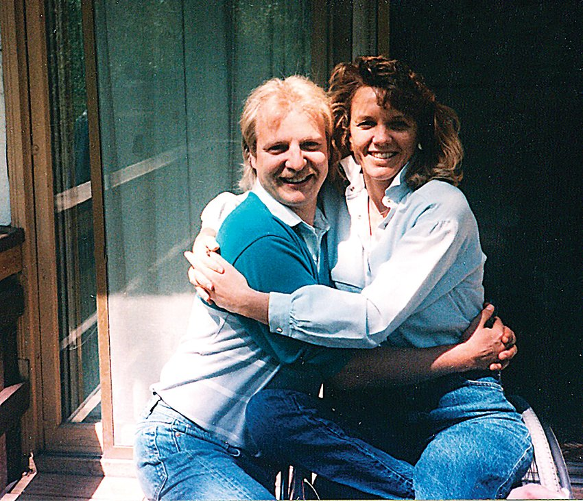 Don Peitzman poses with his wife, Pam, who died in 2004.