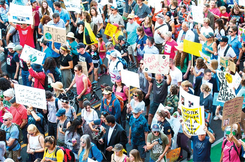 A Denver march in support of the Global Climate Strike on Sept. 20, 2019.