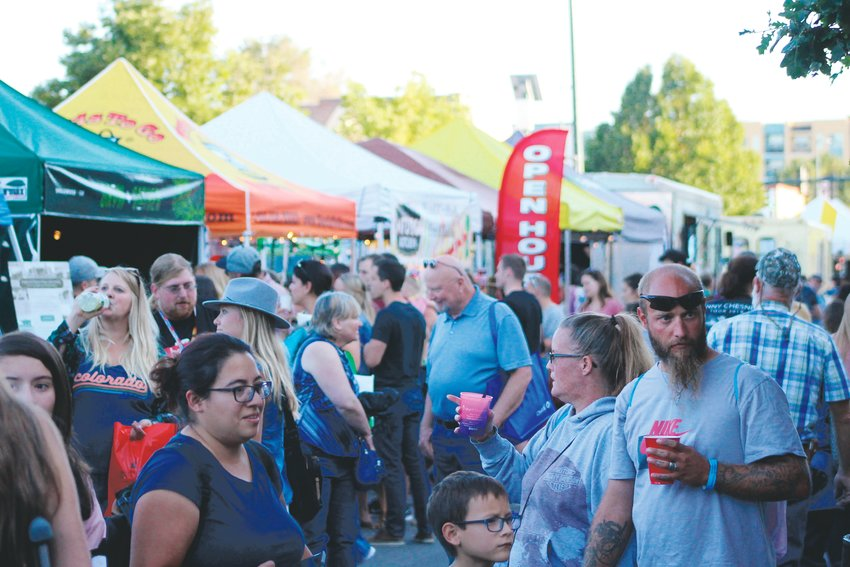 Thousands crowded the 3400 block of South Broadway for the 2019 Block Party in Englewood.