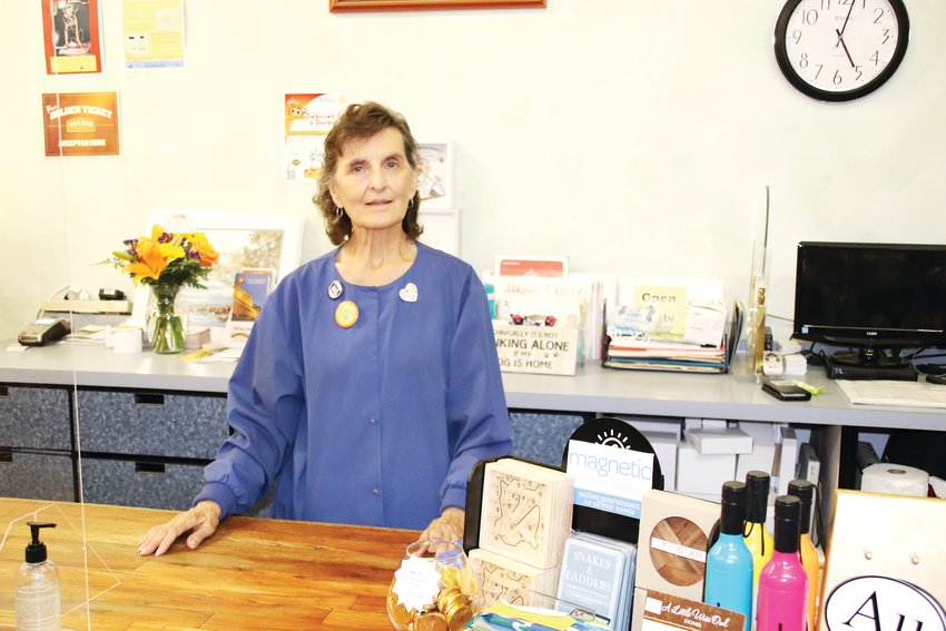 Avenue Gifts owner Donna Owen inside the shop on Aug. 5. The shop is going out of business as a result of the COVID-19 pandemic.