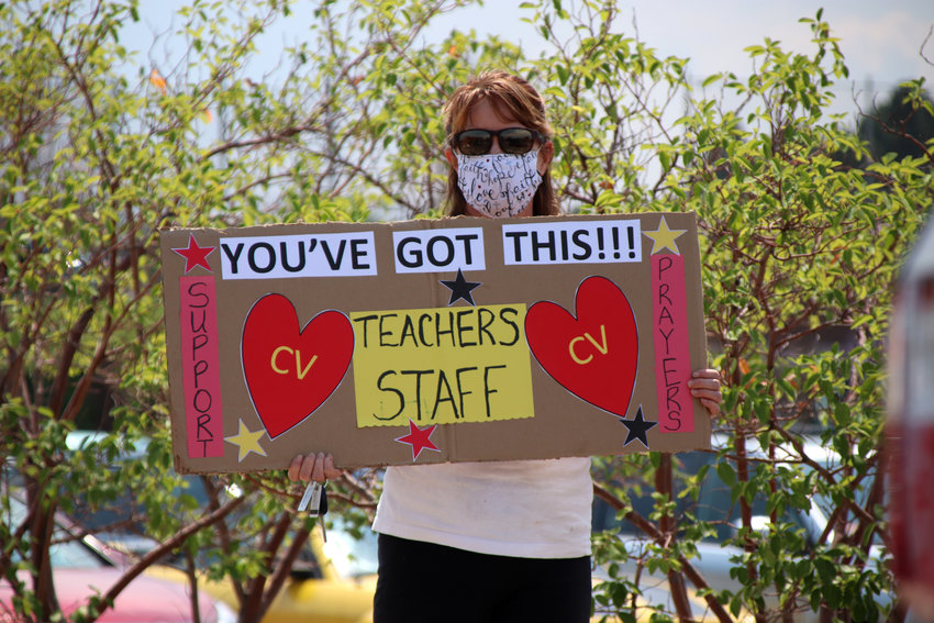 Organizers of a rally held in support of local teachers said they wanted to combat negativity thrown educators' way during the COVID-19 pandemic.
