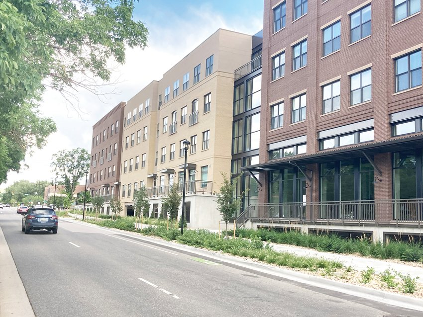 This new School of Mines apartment-style residence hall at 1750 Jackson Street is one of several new projects that have aroused community controversy in recent years. The city is rewriting its zoning code largely in response to such issues.
