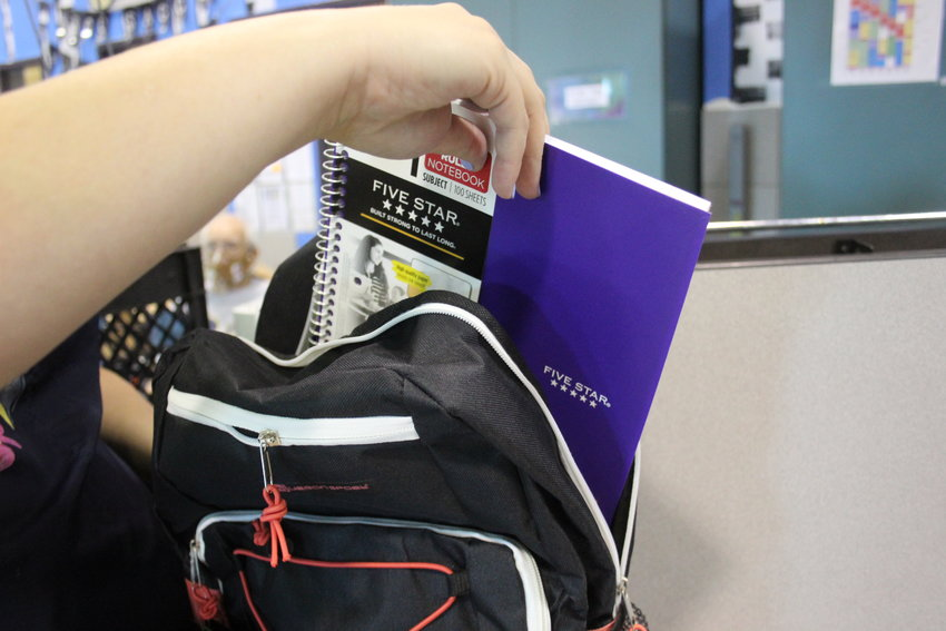 Each backpack donated to families was filed with school supplies. There are at least 3,100 Jeffco Public Schools students facing some sort of homelessness.