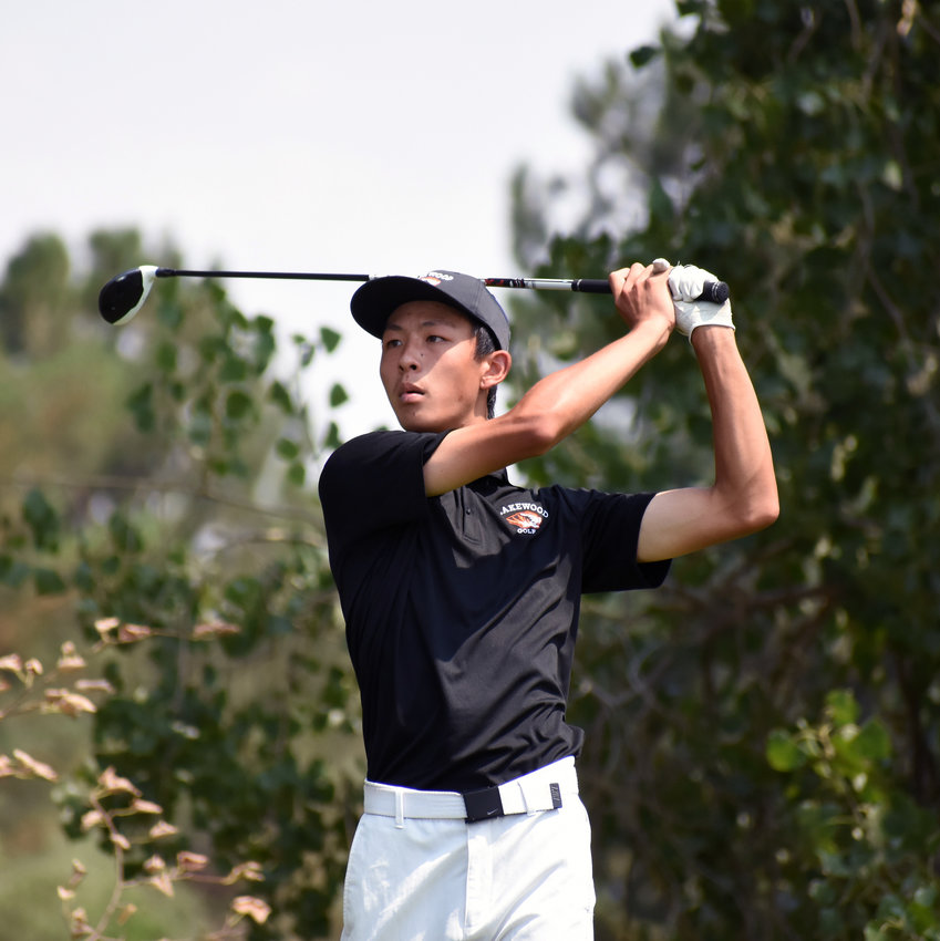 Lakewood senior Ryan Liao shot an impressive 6-under-par, 66 during the second Jeffco League boys golf tournament Monday, Aug. 17, at Raccoon Creek Golf Course in Lakewood.