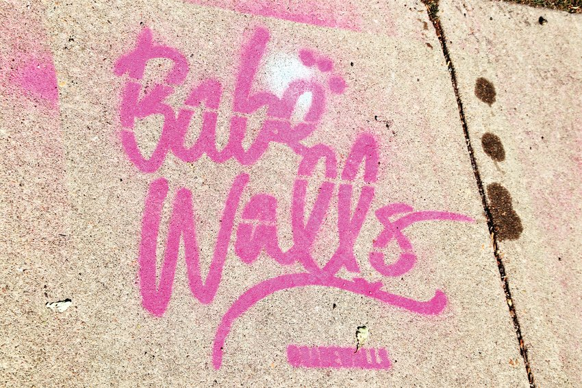 The logo for Babe Walls, an artistic festival in Westminster Aug. 13 through 16. A group of 28 Denver-area artists descended on a Westminster block to paint 10 bare building walls with multiple-story tall murals.