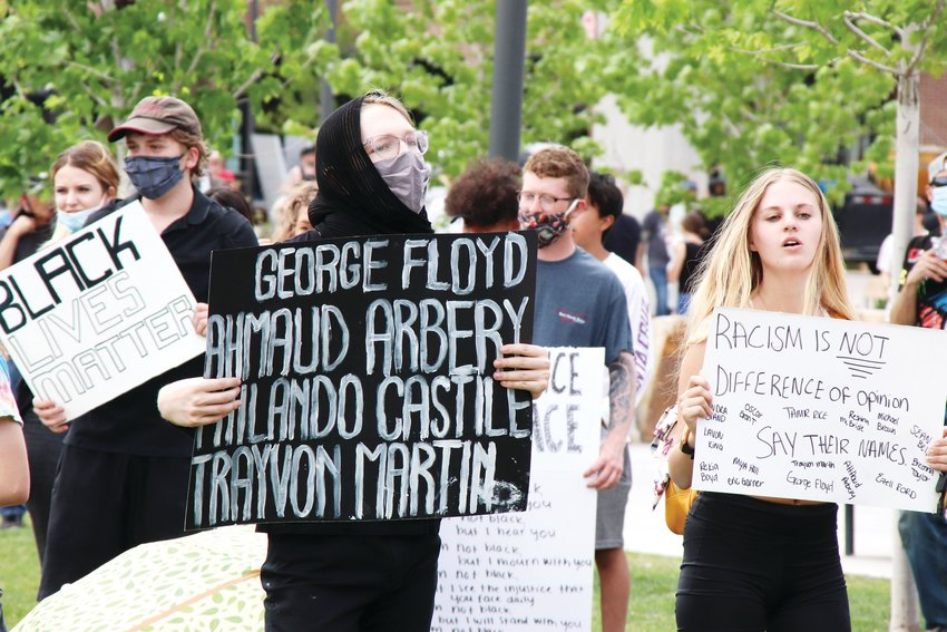 An event decrying racial injustice gave way to protests in Castle Rock on June 2.