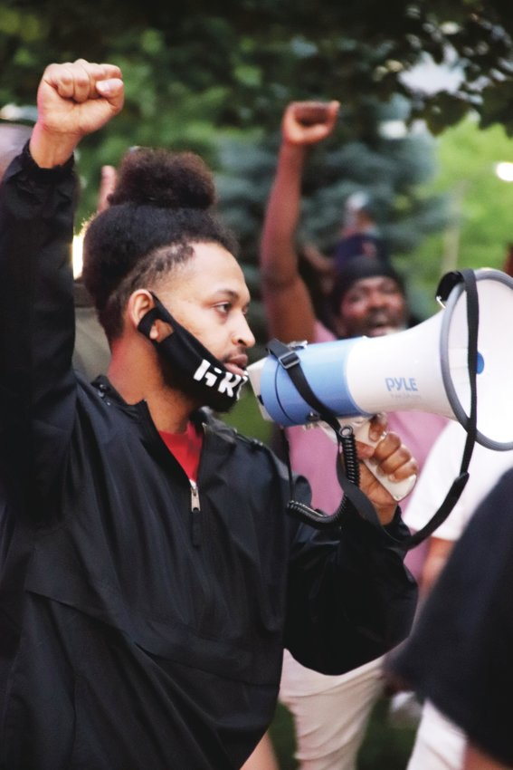 Demonstrators gathered May 28 at the Colorado state Capitol in Denver to protest the death of George Floyd in police custody in Minneapolis.