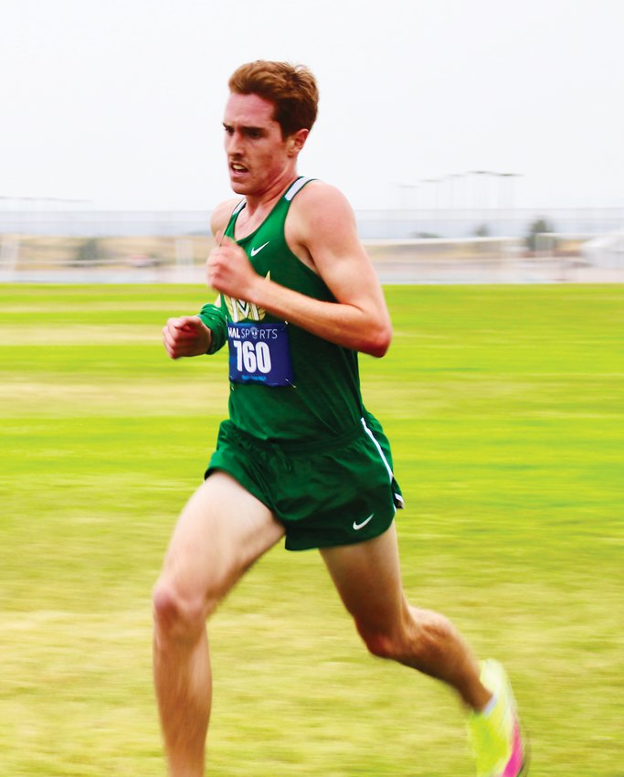 Mountain Vista's Harrison Witt set a course record of 9:34 on Aug. 28 to win the Vista Nation XC Two-Mile Invitational meet held at Mountain Vista High School.