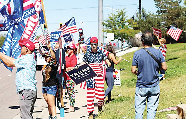 Supporters of President Trump came together for a rally in Highlands Ranch Sept. 12.