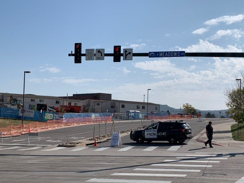 Police were on scene at Castle View High School in Castle Rock the morning of Sept. 21.
