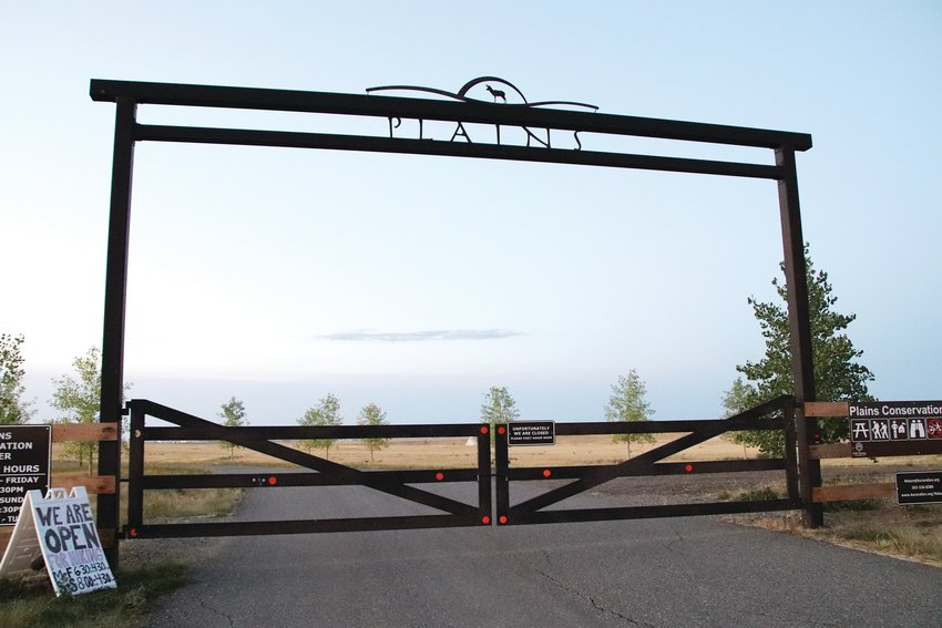 This is the entrance to Plains Conservation Center, a nature preserve and educational center in Aurora that houses replicas of a Native American tipi camp and homestead village.