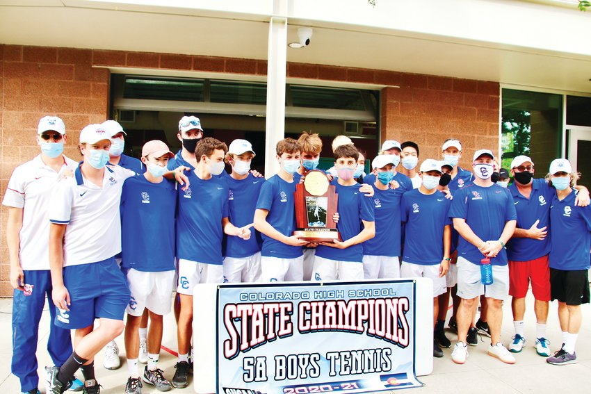 The Cherry Creek boys tennis team won the Class 5A state tournament on Sept. 26 at Gates Tennis Center.