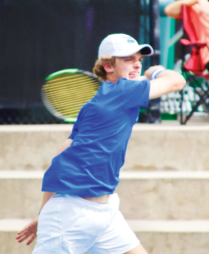 Cherry Creek's George Cavo won a tough semifinal match against Fairview's Luke Silverman but then lost the championship match against Morgan Schilling of Regis Jesuit on Sept. 26 at the state tennis tournament at Gates Tennis Center.