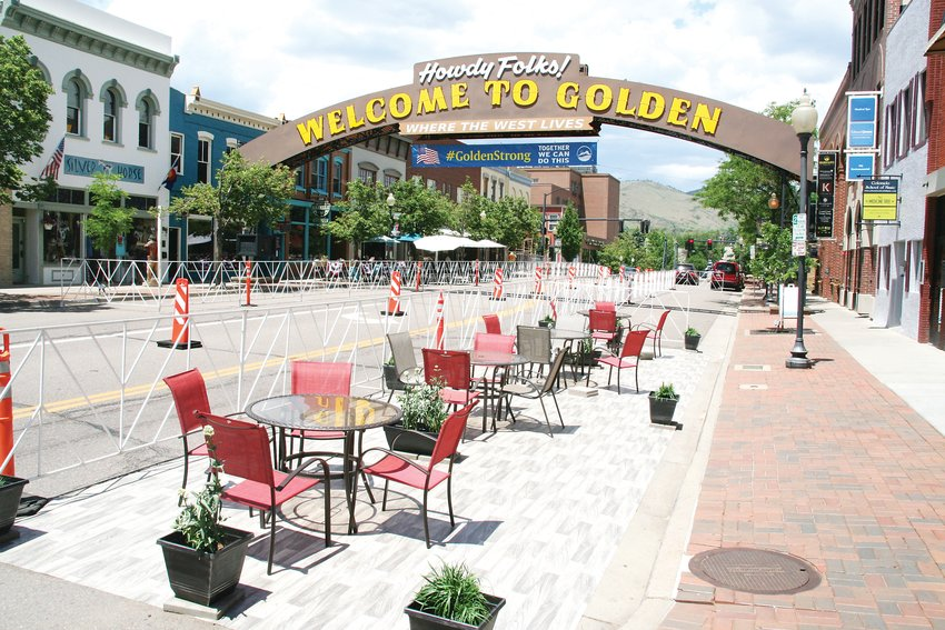 Golden has been among the cities across the county that has closed parking and traffic lanes to allow main street eateries more outdoor eating space throughout the last few months.