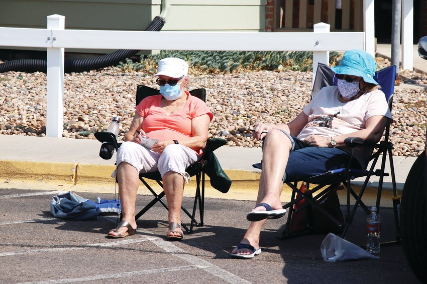 The outdoor bingo game was a way to get Parker Senior Center members together for safe and socially-distanced fun, organizers of the even said.