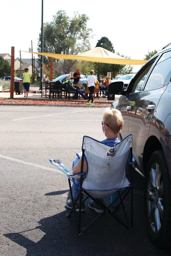 While some people played bingo from their vehicle, others set up lawn chairs in the parking lot and soaked up the sun.