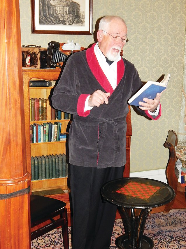 Local actor Jim Hunt reads a spooky tale during a past year's Victorian Horrors at the Molly Brown House Museum. This year, the event is offered as both an in-person or at-home experience.