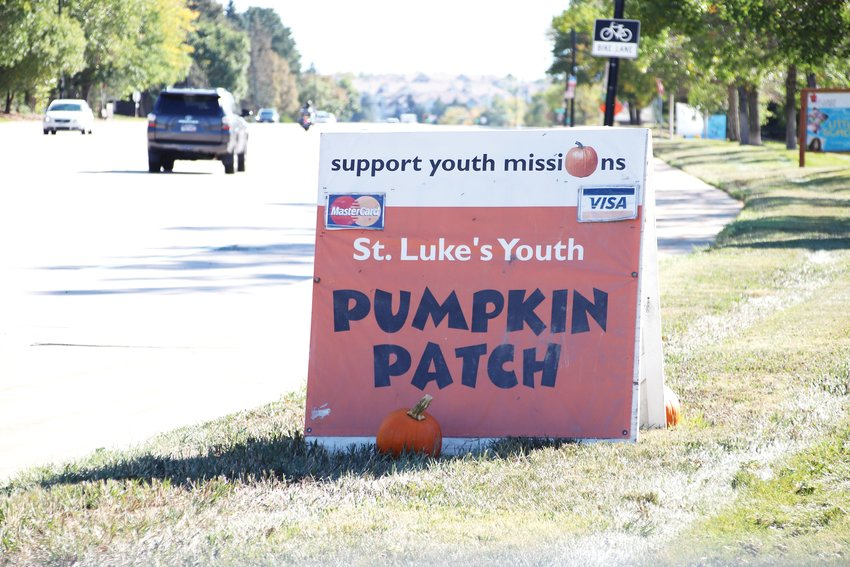 St. Luke's Pumpkin Patch is located on South Broadway, south of Plaza Drive. The funds raised benefit the church's youth groups.