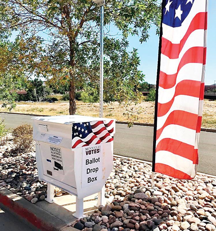 There are 20 ballot drop boxes throughout Douglas County.